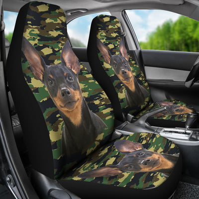 Miniature Pinscher Camo Car Seat Covers 2103