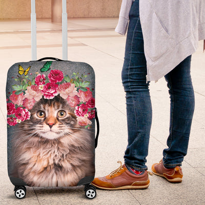 POSEIDON - MAINE COON FLOWERS LUGGAGE COVER 2603