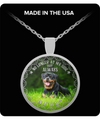 Dogs - No Longer At My Side But Always In My Heart Necklace - Rottweiler - PHOEBE220107