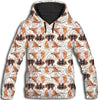Boxer Flower Pattern 1 All Over Print Hoodie ZEUS1201
