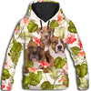 American Pit Bull Terrier Green Leaves All Over Print Hoodie ZEUS 100102