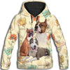 American Pit Bull Terrier Yellow All Over Print Hoodie ZEUS 100103