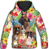Boxer Flower Pattern 2 All Over Print Hoodie ZEUS1201