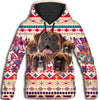 Boxer Flower Pattern 3 All Over Print Hoodie ZEUS1201