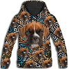 Boxer Flower Pattern 4 All Over Print Hoodie ZEUS1201