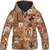 Chow Chow Flower Pattern 4 All Over Print Hoodie ZEUS1601