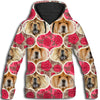 Chow Chow Flower Pattern 1 All Over Print Hoodie ZEUS1601