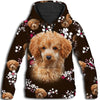 Poodle Brown Pattern All Over Print Hoodie ZEUS090118