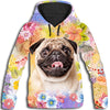 Pug Fower Aidas All Over Print Hoodie ZEUS261230