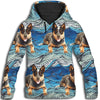 Australian Cattle Dog Flower Pattern 2 All Over Print Hoodie ZEUS1901