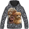 Poodle Pattern Awesome All Over Print Hoodie ZEUS090118
