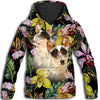 Australian Cattle Dog Flower Pattern 3 All Over Print Hoodie ZEUS1901