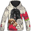 Poodle Red Flower All Over Print Hoodie ZEUS090118