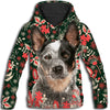 Australian Cattle Dog Flower Pattern 4 All Over Print Hoodie ZEUS1901