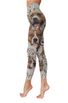 American Pit Bull Terrier White Flower Low Rise Leggings ZEUS100103