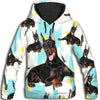Doberman Pinscher Painting All Over Print Hoodie ZEUS100118