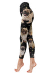 Pug Paw Low Rise Leggings ZEUS100112