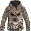 Owl Awesome All Over Print Hoodie