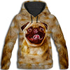 Pug Light All Over Print Hoodie GAEA050118
