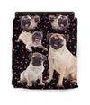 Pug Small Flower Pattern Bedding ZEUS100107