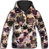 Pug All Over Print Hoodie