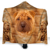 Shar Pie Face Hooded Blanket ZEUS2901