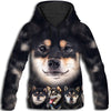 Black And Tan Shiba Inu Awesome All Over Print Hoodie