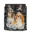 Shih Tzu White Pattern Bedding ZEUS11012