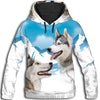 Siberian Husky Snow All Over Print Hoodie GAEA181234