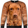 Vizsla Awesome All Over Print Crewneck Sweatshirt