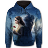 Disney - Beauty And The Beast All Over Print Full Zip Hoodie - THEIA160101