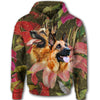 German Shepherd Flower All Over Print Full Zip Hoodie ZEUS090118