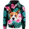 American Pit Bull Terrier Green Leaf All Over Print Full Zip Hoodie ZEUS100101