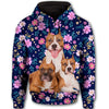 American Pit Bull Terrier Purple Flower All Over Print Full Zip Hoodie ZEUS100102