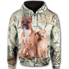 American Pit Bull Terrier Long Flower All Over Print Full Zip Hoodie ZEUS100103