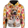 American Pit Bull Terrier Same Flower All Over Print Full Zip Hoodie ZEUS100104