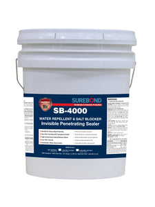 Surebond 4000 Water Repellent and Salt Blocker Invisible Penetrating Sealer - 5 gallons
