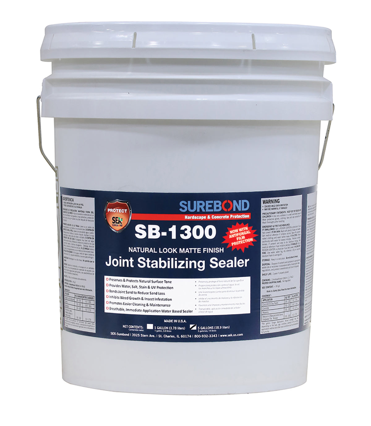 SB-1300: Joint Stabilizing, Natural Look, Water Based, Matte Finish (5 Gallons)