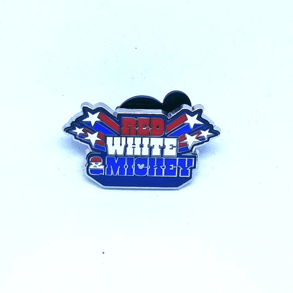 Red, White, Mickey Pin - Booster Pack