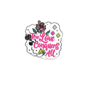 True Love Conquers All Quote Pin Booster Pack Wonderland Pin