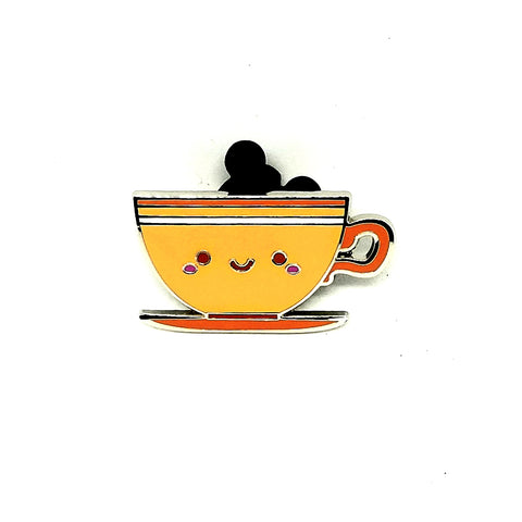 Orange Teacup Pin - Mystery Box