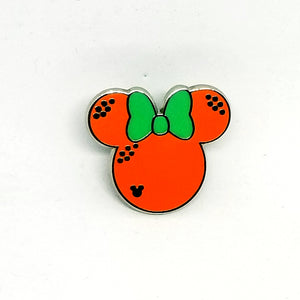 Minnie Fruit Icons - Orange Pin