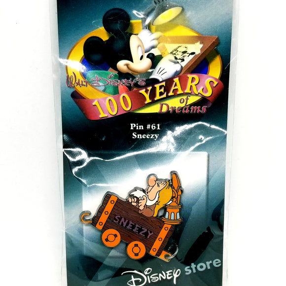 100 Years of Dreams - Sneezy Mine Cart Pin