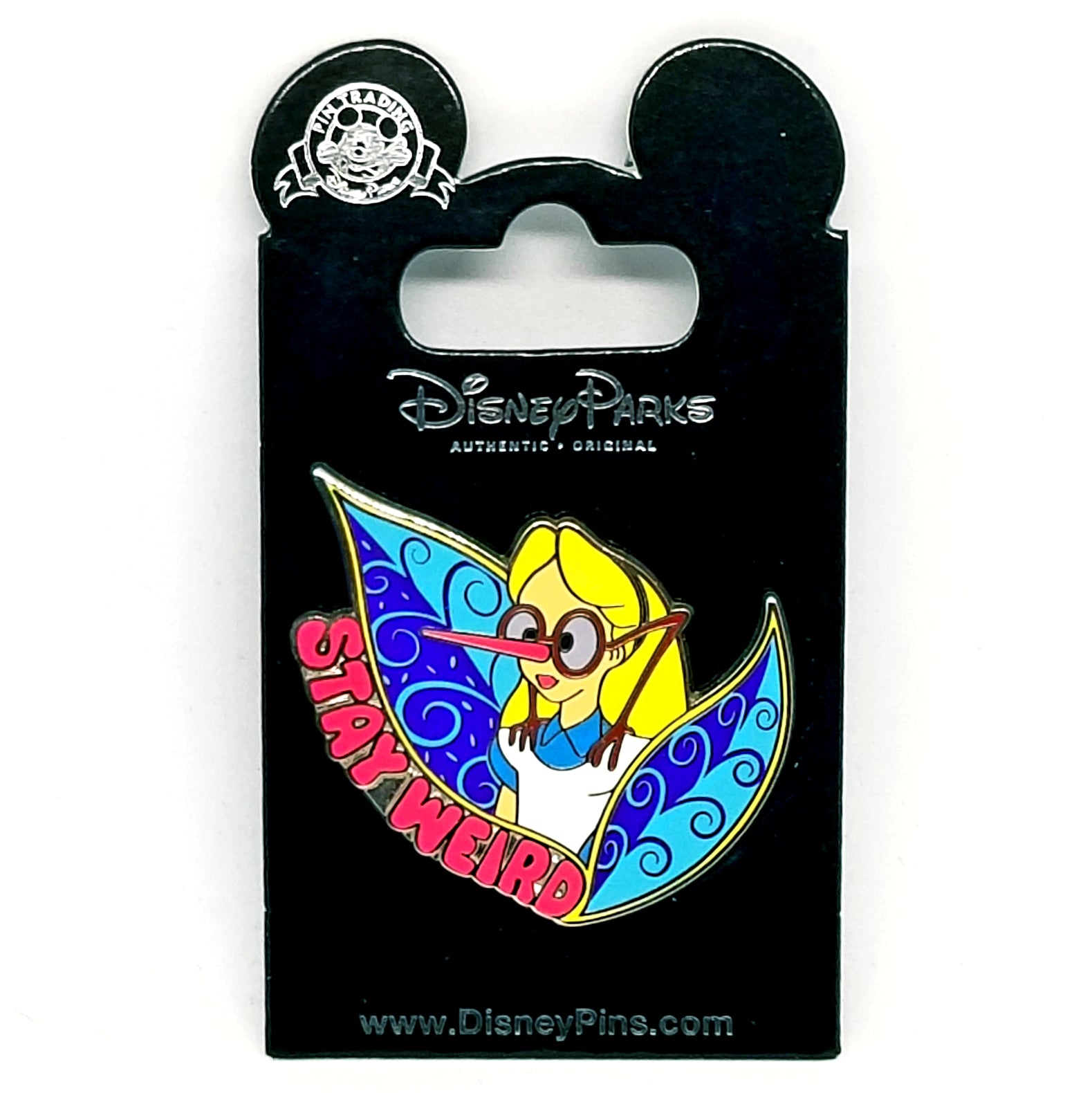 Stay Weird Alice Pin