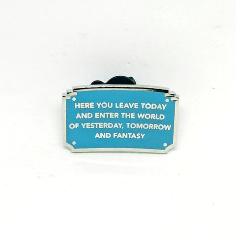 "Disneyland Quote ""Here You Leave Today..."" Pin - Booster Pack"