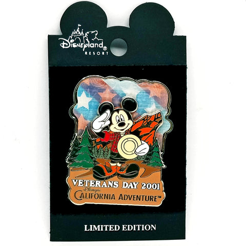 Veteran's Day 2001 Lenticular - Mickey Mouse Pin