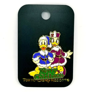Merry Christmas Donald and Daisy Pin