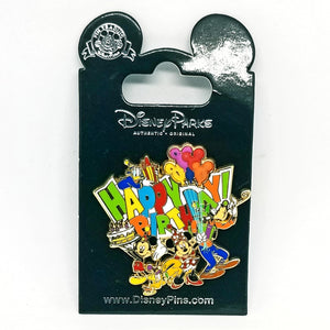 Happy Birthday - Mickey and Friends Pin