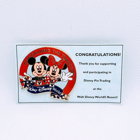 Continuing The Tradition Mickey and Minnie Pin