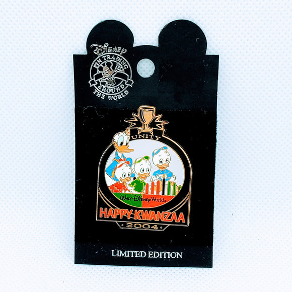 Happy Kwanzaa 2004 - Donald and Newphews Pin